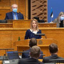 Po kontakto su infekuotu asmeniu izoliavosi Estijos premjerė