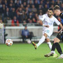 """Čempionų lyga: """"Man City"""" sustabdė įžūlius belgus, Portugalijos čempionai triumfavo Turkijoje"""
