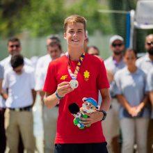 Tenisininkui V. Gaubui – Europos jaunimo olimpinio festivalio sidabras