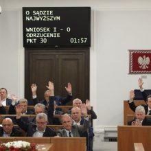 Lenkijos Senatas balsavo prieš ginčijamą žiniasklaidos nuosavybės įstatymą