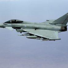 """Vokietijos šiaurėje sudužo du ore susidūrę naikintuvai """"Eurofighter"""""""