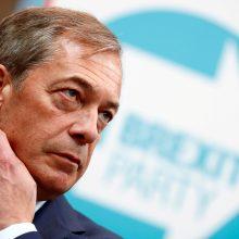 """Jei Britanija dalyvaus EP rinkimuose, daugiausia balsų gaus naujoji """"Brexit"""" partija"""