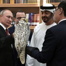 Rusijos prezidentas atvyko į JAE pirmo nuo 2007 metų vizito