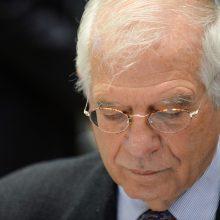 ES diplomatijos vadovas raginamas peržiūrėti Palestinos valstybingumo klausimą