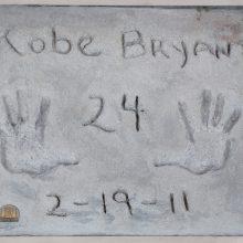 K. Bryanto rankų atspaudai ir kiti su juo susiję daiktai bus parduodami aukcione