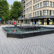 Šeštadienį nustojo veikti Kauno centre esantys fontanai