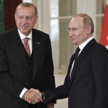 Rusijos ir Turkijos prezidentai aptarė sandorį dėl raketų sistemų pirkimo