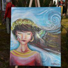 Šis paveikslas, pasak menininkės, moteriai leistų pasijusti lengviau, moteriškiau