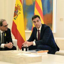 """Katalonija """"nepasiduos dėl jokių kelių į nepriklausomybę"""", sako regiono lyderis"""