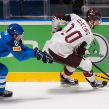 Latvijos ledo ritulininkai pasaulio čempionate nugalėjo italus