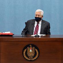 M. Abbasas: gegužę bus renkami palestiniečių parlamentarai, liepą – prezidentas