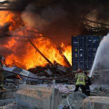 Izraelis pareiškė nesantis susijęs su galingais sprogimais Beiruto uoste