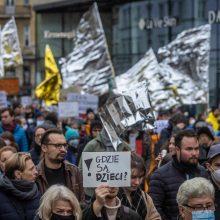 Lenkijoje vyko protestai dėl migrantų atstūmimo nuo sienos