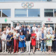 LTOK apdovanoti olimpiniai čempionai ir sportui nusipelnę jubiliatai