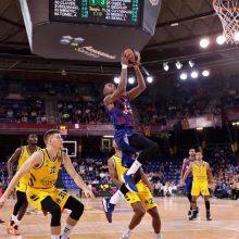 """Krepšininkas R. Giedraitis rungtynėse su """"FC Barcelona"""" pelnė 17 taškų"""