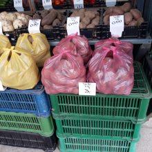 """""""Vitebsko"""" turgelyje už kilogramą bulvių reikėjo mokėti 0,60 euro"""