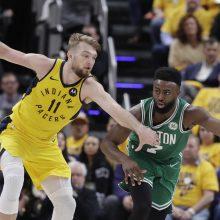 """""""Pacers"""" su D. Saboniu trečią sykį pralaimėjo """"Celtics"""" krepšininkams"""