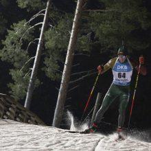 K. Dombrovskis užėmė aukščiausią vietą tarp Lietuvos biatlonininkų pasaulio čempionate