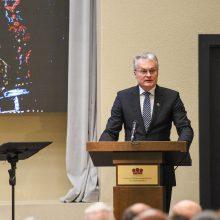 """Prezidentas dalyvavo parodos """"Radvilos. Kunigaikščių istorija ir paveldas"""" atidaryme"""