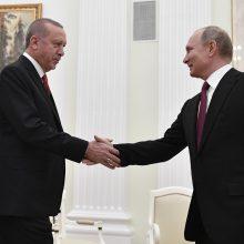 V. Putinas ir R. T. Erdoganas pradėjo konsultacijas dėl Sirijos