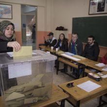 Turkijoje vyko savivaldos rinkimai
