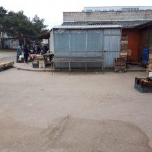 Populiari vaisių ir daržovių turgavietė ištuštėjo, dirba tik du kioskai