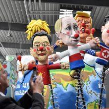 Vokietijoje vyksiančio karnavalo dalyviai pasijuoks iš pasaulio lyderių