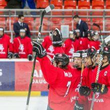 Lietuvos jaunių ledo ritulio rinktinė įveikė Pietų Korėjos komandą