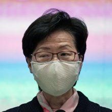 Kinijai minint nacionalinę dieną, Honkonge sulaikyti dešimtys protestuotojų