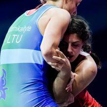 Imtynininkė D. Domikaitytė Europos žaidynėse liko penkta