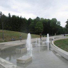 Pagaliau: po kelių dešimtmečių vėl čiurlena Draugystės parko fontanas!