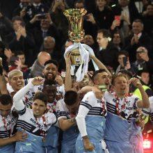 """Italijos futbolo taurę iškovojo """"Lazio"""" klubas"""