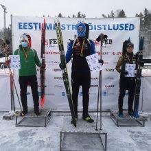 Estų iššūkio sulaukę biatlonininkai Lietuvos čempionatą baigė dviem medaliais