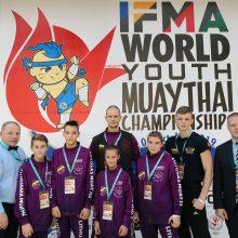 Lietuvai – pasaulio vaikų ir jaunimo muaitai čempionato sidabras bei bronza