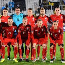 Lietuvos futbolininkai pralaimėjo serbams