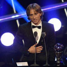 Geriausiu pasaulio futbolininku išrinktas kroatas L. Modričius