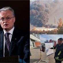 G. Nausėda: gaisras Alytuje parodė, kad tokiems incidentams pasiruošta nepakankamai