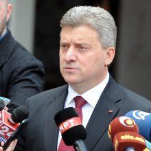 Makedonijos prezidentas ragina atmesti susitarimą su Graikija dėl šalies pavadinimo