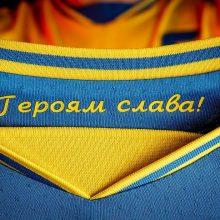 Ukraina sako pasiekusi kompromisą su UEFA dėl rinktinės uniformų futbolo čempionate