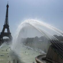 Paryžiuje pasiektas karščio rekordas – 42,4 laipsnio