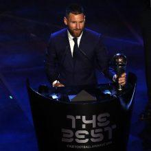 Geriausiu pasaulio futbolininku išrinktas argentinietis L. Messi