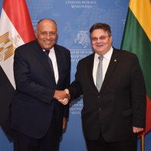 Vilniuje Lietuvos ir Egipto užsienio reikalų ministrai aptarė bendradarbiavimą