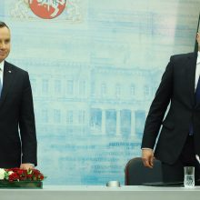 G. Nausėda susitiko su Lenkijos prezidentu A. Duda: radome labai daug sąlyčio taškų