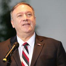 """M. Pompeo: JT rezoliucija dėl rasizmo ir teisėtvarkos JAV yra """"veidmainiška"""""""