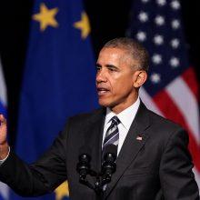 B. Obama prašė protestuotojų pyktį pakeisti taikiais ir tvariais veiksmais