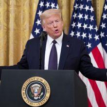 D. Trumpas: JAV gal yra šiek tiek sisteminio rasizmo, bet ne tiek, kiek anksčiau