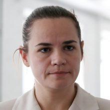 Štabas: S. Tichanovskaja nedalyvaus protesto akcijose, kad būtų išvengta provokacijų