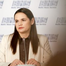 Baltarusijos opozicijos lyderė pirmadienį susitiks su ES užsienio reikalų ministrais