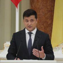 """V. Zelenskis ragina ES bendradarbiauti su Kijevu dėl Rusijos """"dujų agresijos"""""""