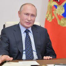 V. Putinas sako esąs pasirengęs bet kuriuo metu susitikti su Ukrainos lyderiu Maskvoje